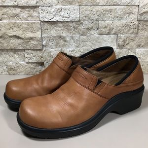 Ariat Shoes Leather Clogs Brown 8.5 Santa Cruz